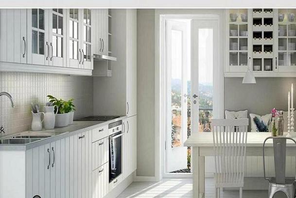 Cocina y muebles cocinas de aspecto moderno con madera for Cocinas diseno blancas