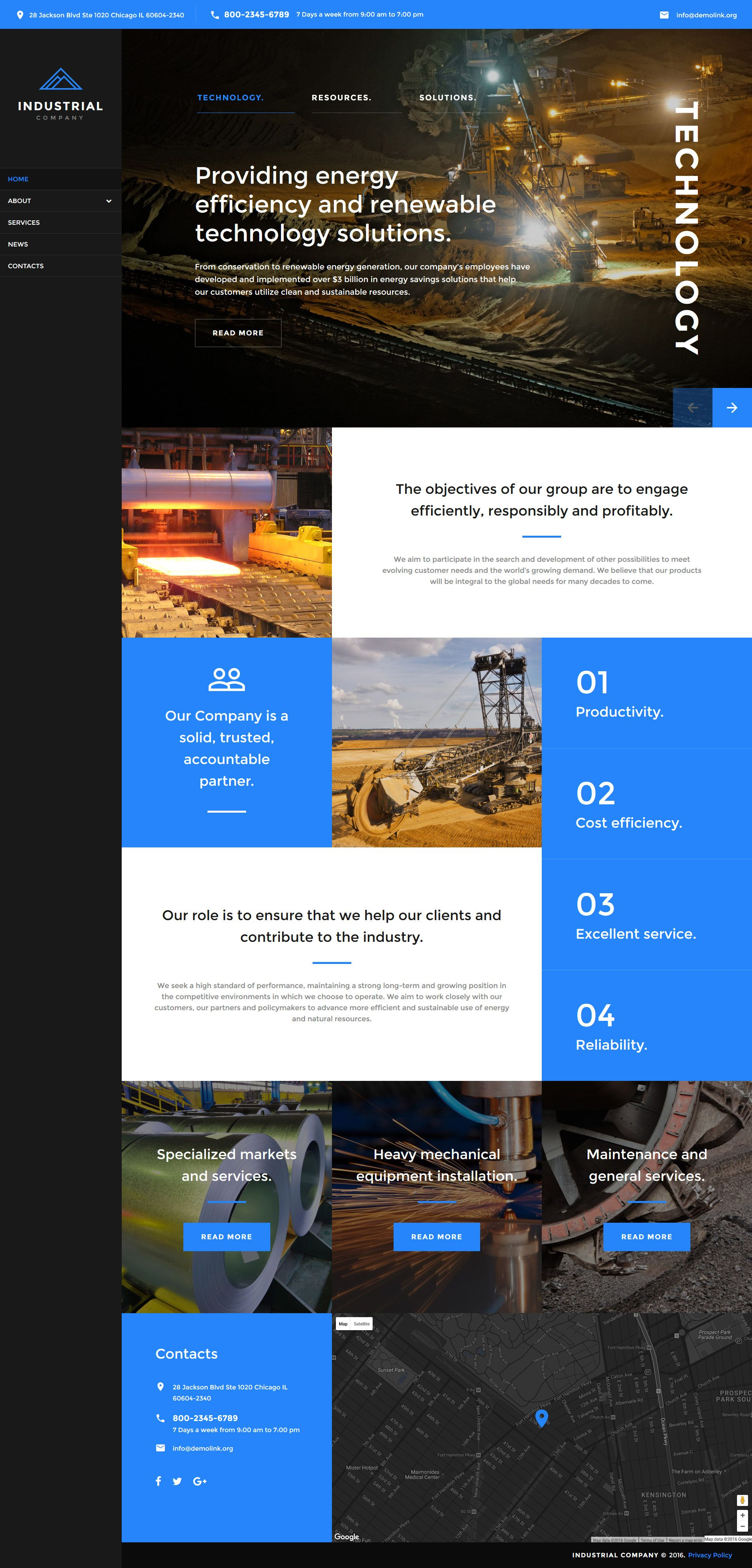 mining company responsive website template new website templates