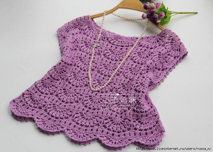вязаные идеи вконтакте вязание спицы Crochet Blouse Crochet