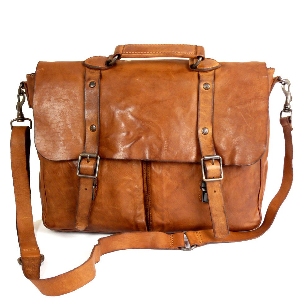 e9a796935ac7 Campomaggi Briefcase in Washed Leather Handmade in Italy ...
