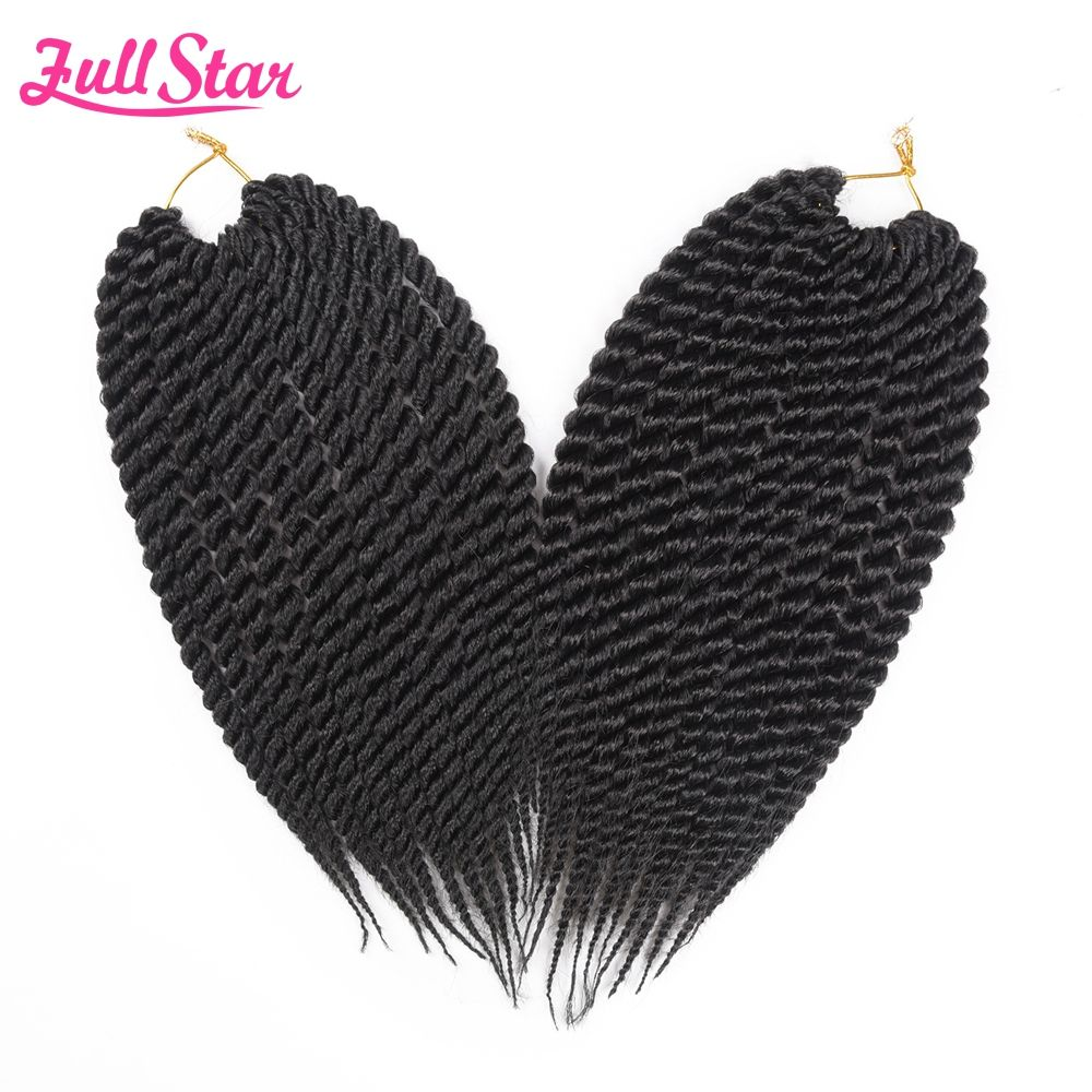 Full star pack havana twist crochet braids hair g pack synthetic