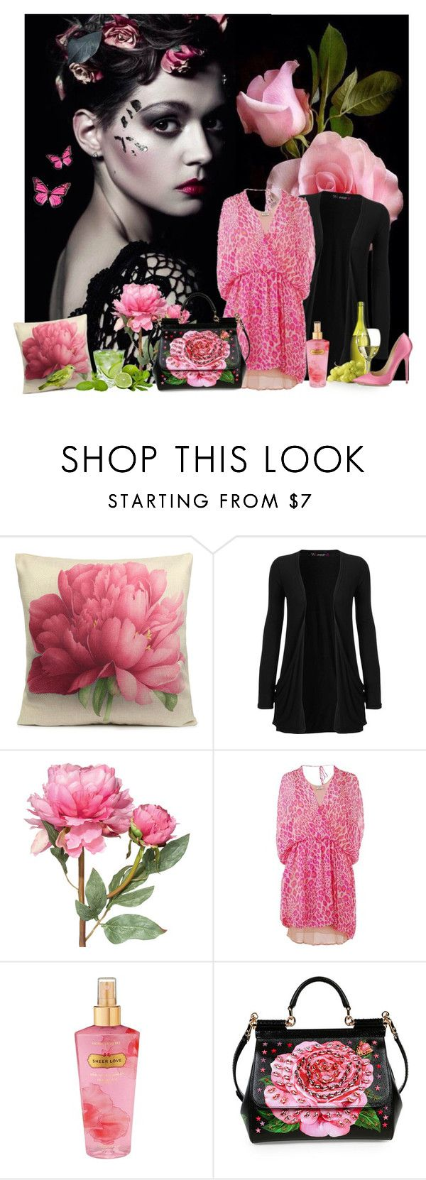 """Untitled #2435"" by tina-teena ❤ liked on Polyvore featuring WearAll, OKA, By Malene Birger, Victoria's Secret, Dolce&Gabbana and Jimmy Choo"