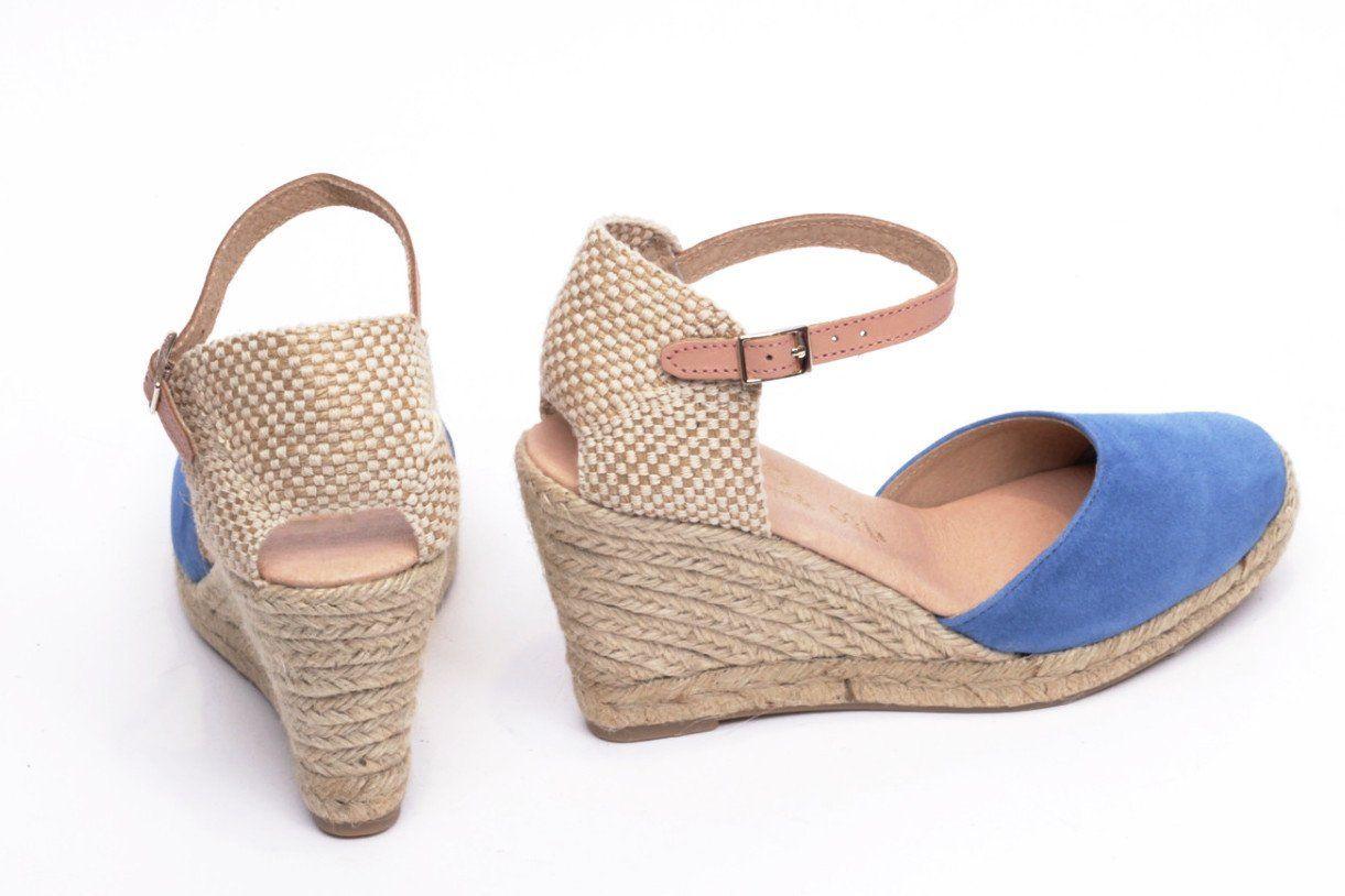 Sandalias Azul 1c7xs Color Cuña Esparto Tacón – Mimao Mujer Mar Cómodo WD9Y2HIEe