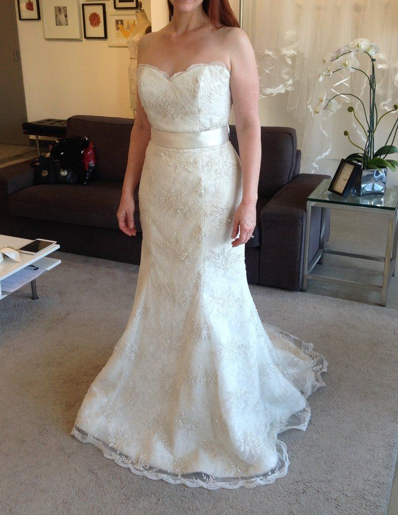 fec650b73fe Aria  Jacqueline  size 6 used wedding dress front view on bride