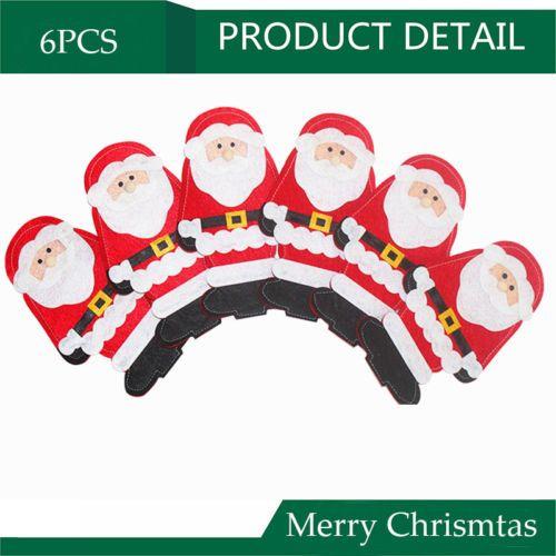 6 PCS Christmas Santa Cutlery Holders Stocking Tableware Silverware Party Decor https://t.co/hnDYhWkZHG https://t.co/Ovn6GdYYEO