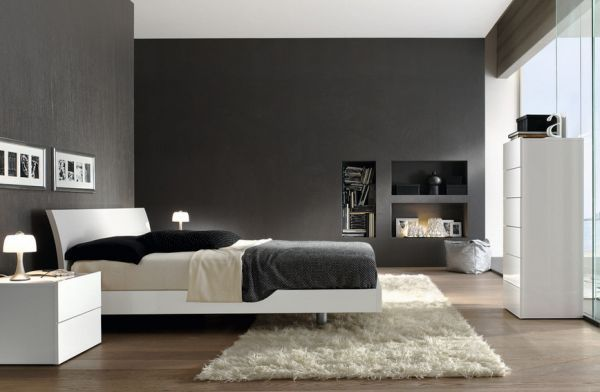 Impressive gray home interiors for elegant home black and Black white and grey bedroom designs