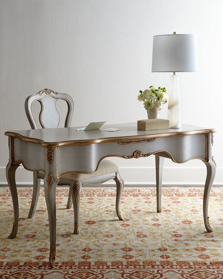 Serene Writing Desk & Chair, Louis IV-style Writing Desk