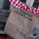 Christmas Paper Bags from Brown Paper Packages...these are Christmas, but you could really do this for other holidays or just because!