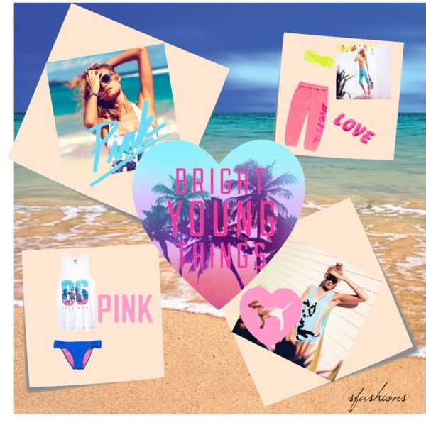 """""""Bright Young Things: PINK Spring Break Style Off!"""" by sfashions ❤ liked on Polyvore"""