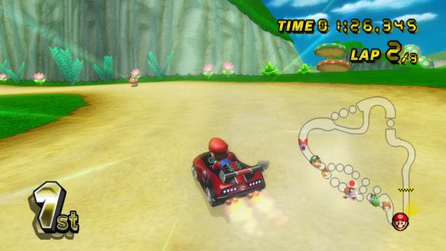 Mushroom Gorge From Mario Kart Wii Mario Kart Wii Mario