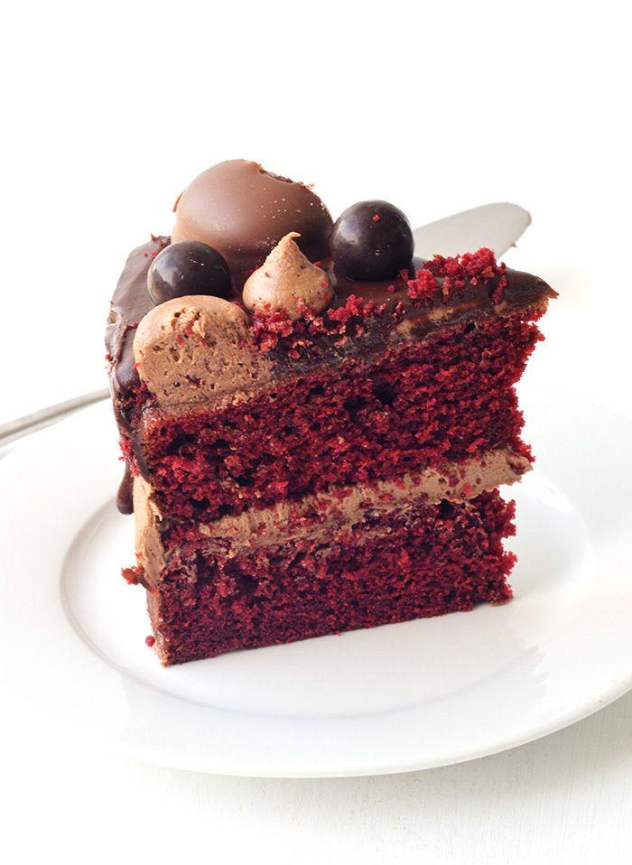 Red velvet chocolate frosting cake recipe