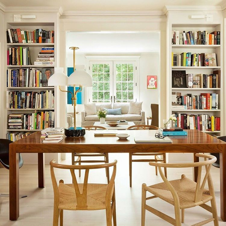 """After designer Nestor Santa-Cruz and architect Anne Decker signed on to modernize this 3,775-square-foot, 116-year-old Washington, D.C., residence, the direction they were given was """"to create a Swedish farmhouse."""" And that's just what they did—see more on archdigest.com. Photo by Gordon Beall"""