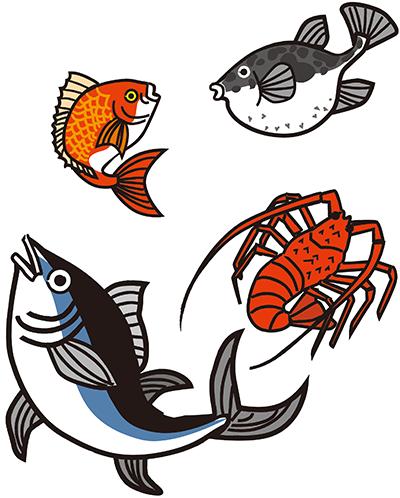 九州じゃらん 2月号 冬こそ食べたい海鮮ランチ 特集で魚のイラスト描きました 魚イラスト イラスト グラフィティアーティスト