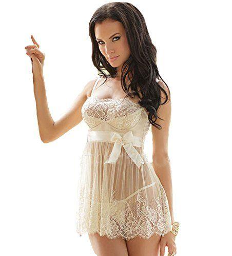 Blidece Women's Blushing Bride Scalloped Stretch Lace Slip and Thong in White http://www.amazon.com/dp/B00VR8JZ8W/ref=cm_sw_r_pi_dp_ADmzvb17DZHJH