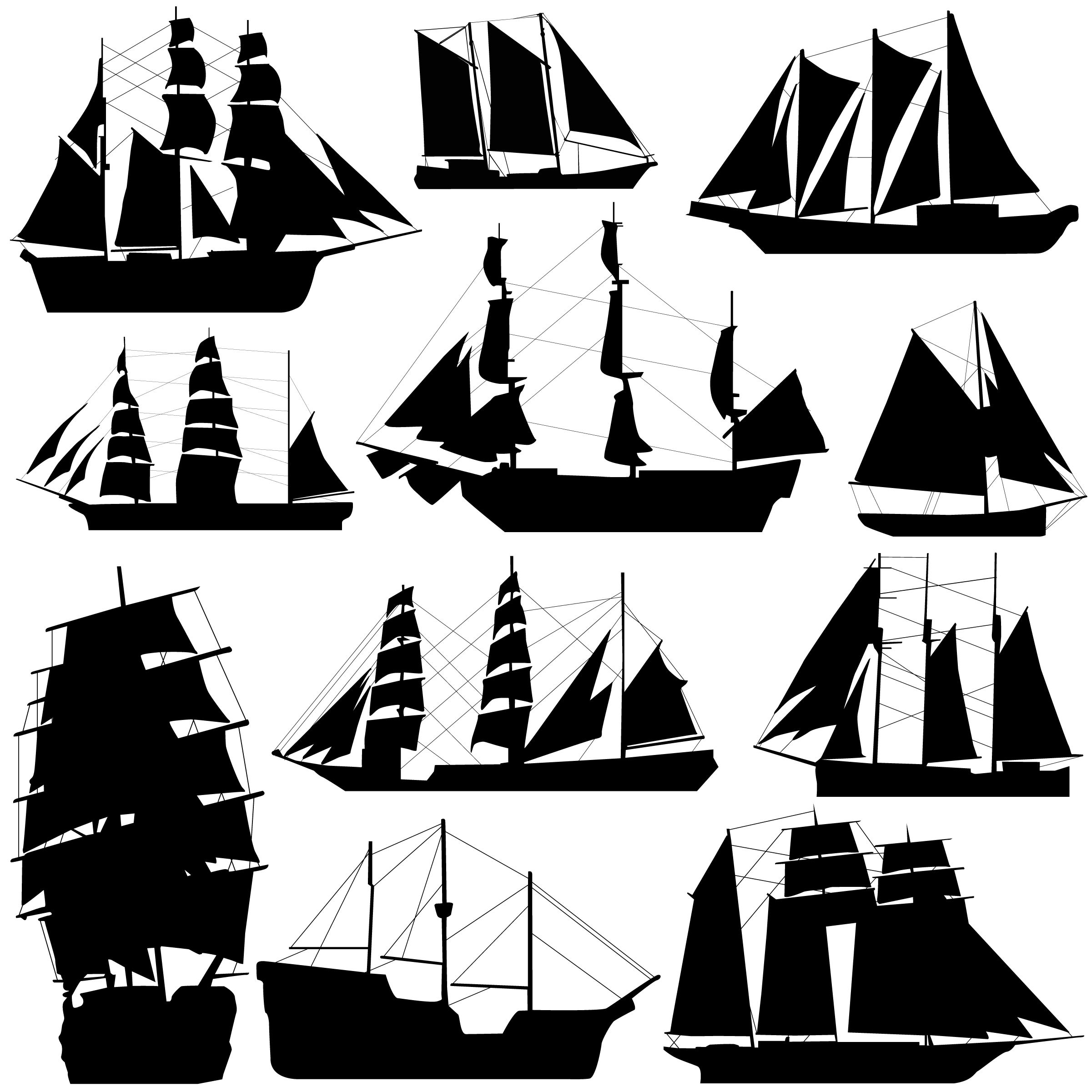 Pirate Ship Wall Murals Ship Silhouettes Silhouettes Vector Pinterest