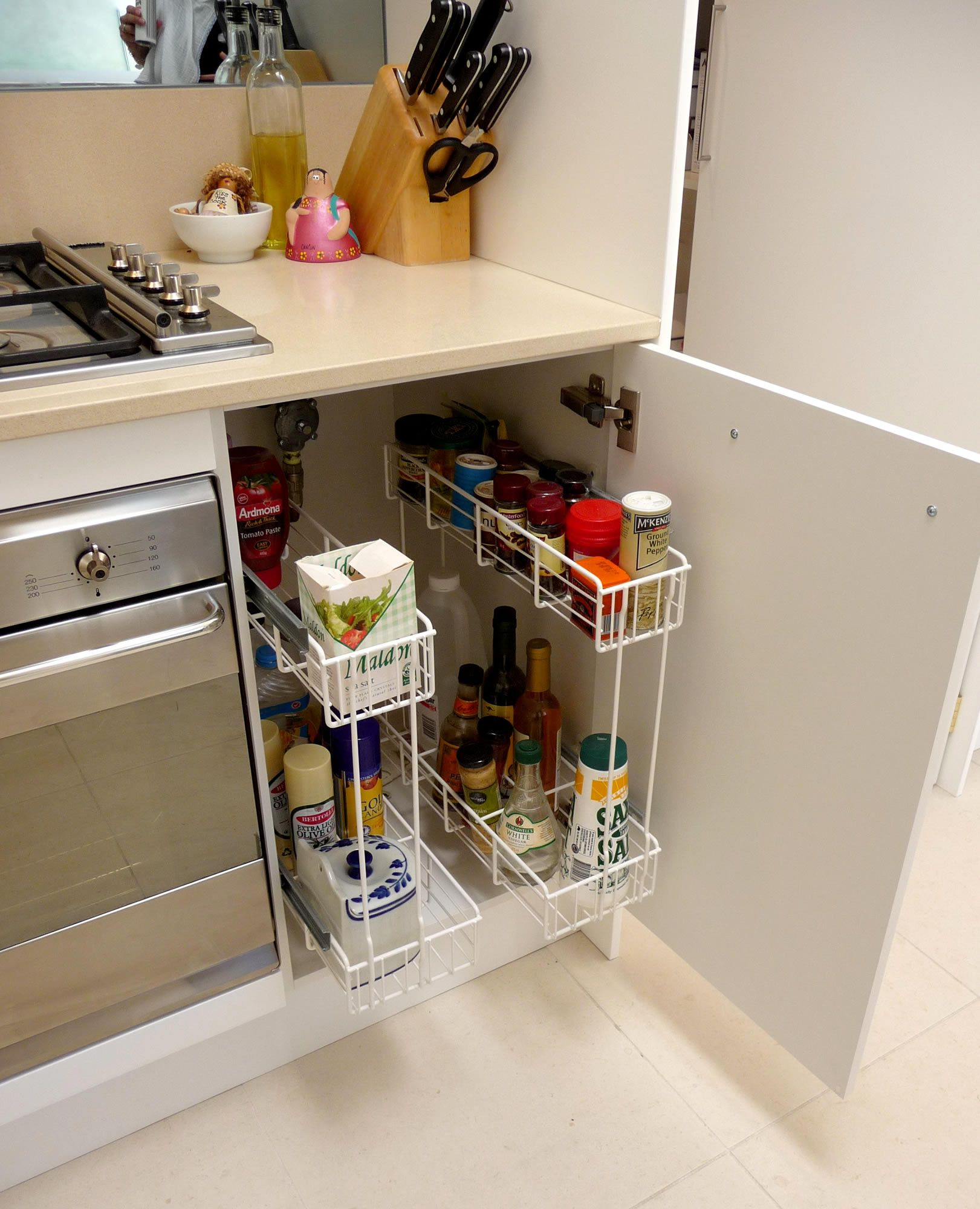 find this pin and more on kitchen storage - Kitchen Counter Storage Ideas