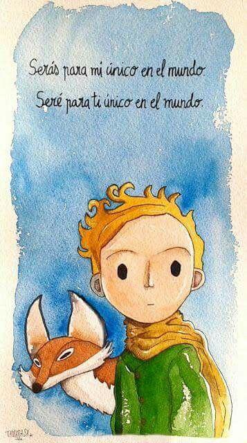 El principito y el zorro el principito pinterest citation je pense toi y amour - Housse de couette le petit prince ...