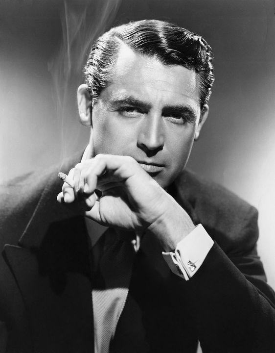 Cary grant 1940s via black white rain