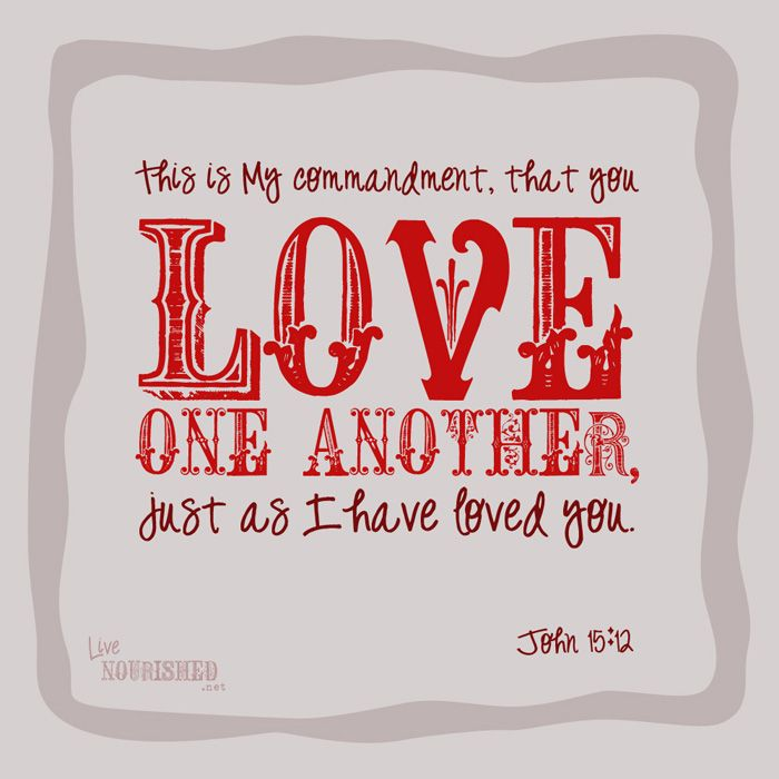 photo regarding Love One Another Printable called Pin upon No cost Printable Bible / Christian Elements