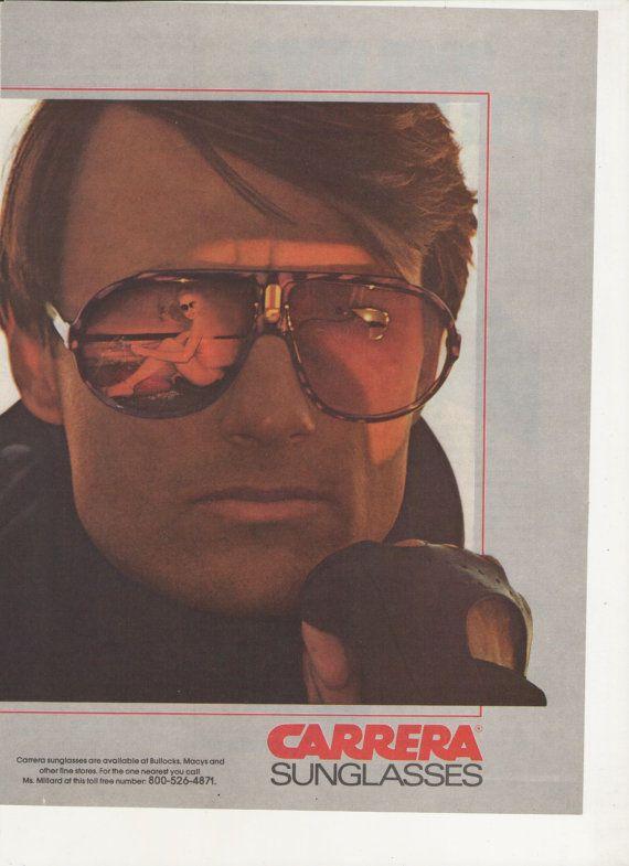 7d44c57665f8 1982 Advertisement Carrera Sunglasses 80s Mens Sun Glasses Fashion ...