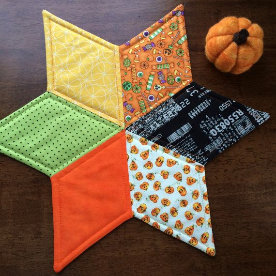 Dining Room Table Toppers Custom Halloween Quilted Star Candle Mat Quilted Table Topper Design Decoration