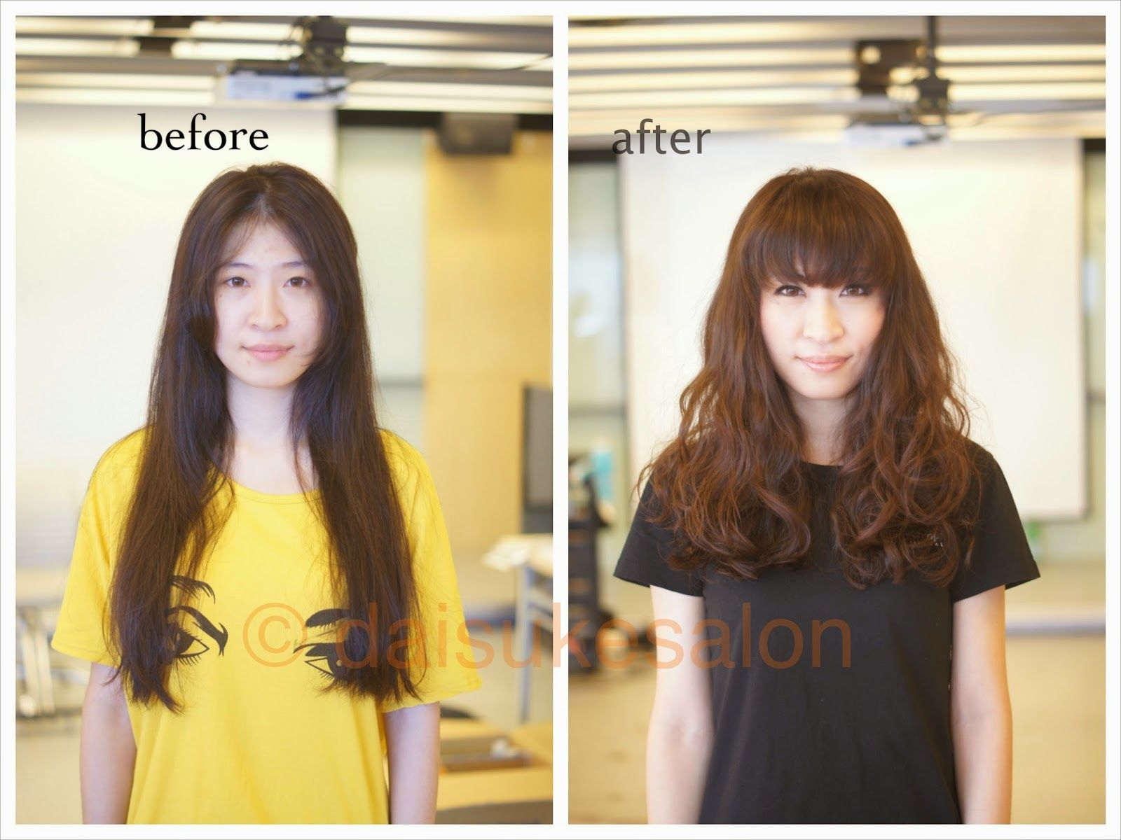 Welcome Air Wave Perm Before Amp After Long Hair Wave