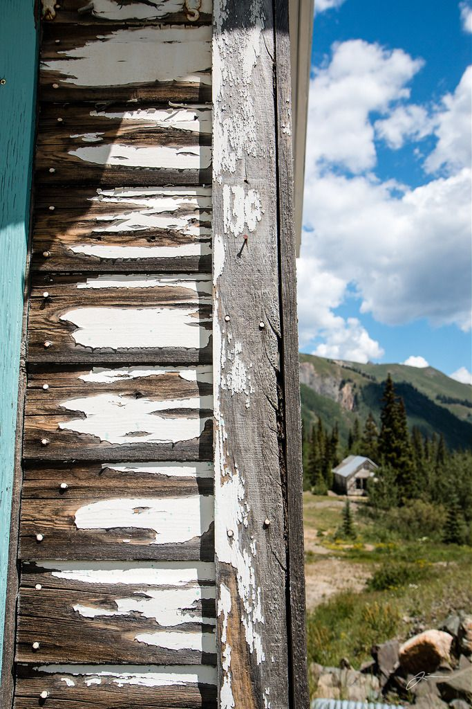 Weathered siding on abandoned mine town house [oc][1707x2560]