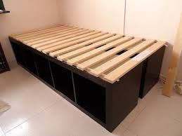 expedit now kallax image result for expedit ikea bed hack. Black Bedroom Furniture Sets. Home Design Ideas