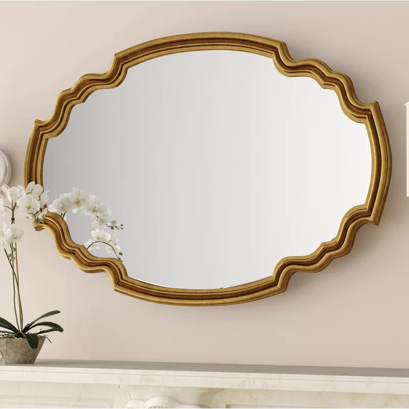 Broadmeadow Glam Accent Wall Mirror Mirror Wall Gold Mirror Wall Framed Mirror Wall