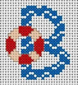 alphabet - broderie - cross stitch - B -  Point de croix - Blog : http://broderiemimie44.canalblog.com/