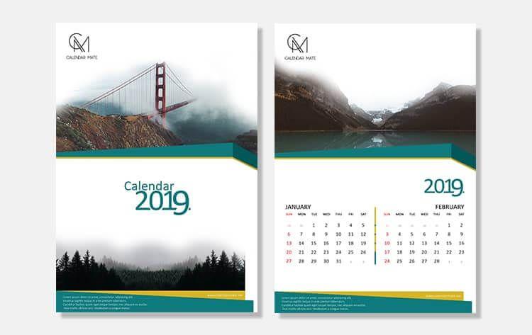 Damas Simple And Clean Calendar Design Psd File Complete 2019 Free Calendar Design Psd And Vectors Downloads