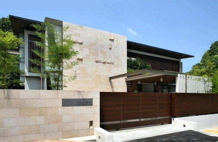 Modern front gates and fences modern house gates and fences designs philippines modern house gates and