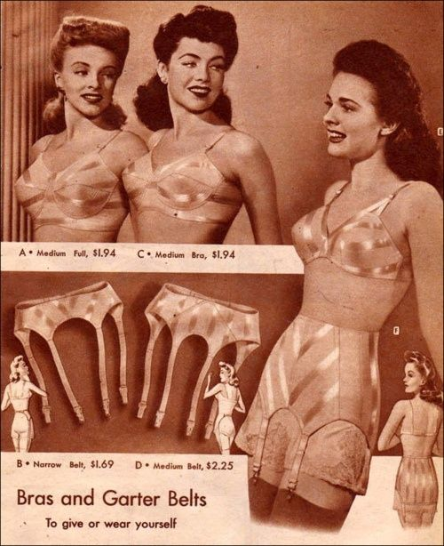 Image result for garter belts 1940s ads