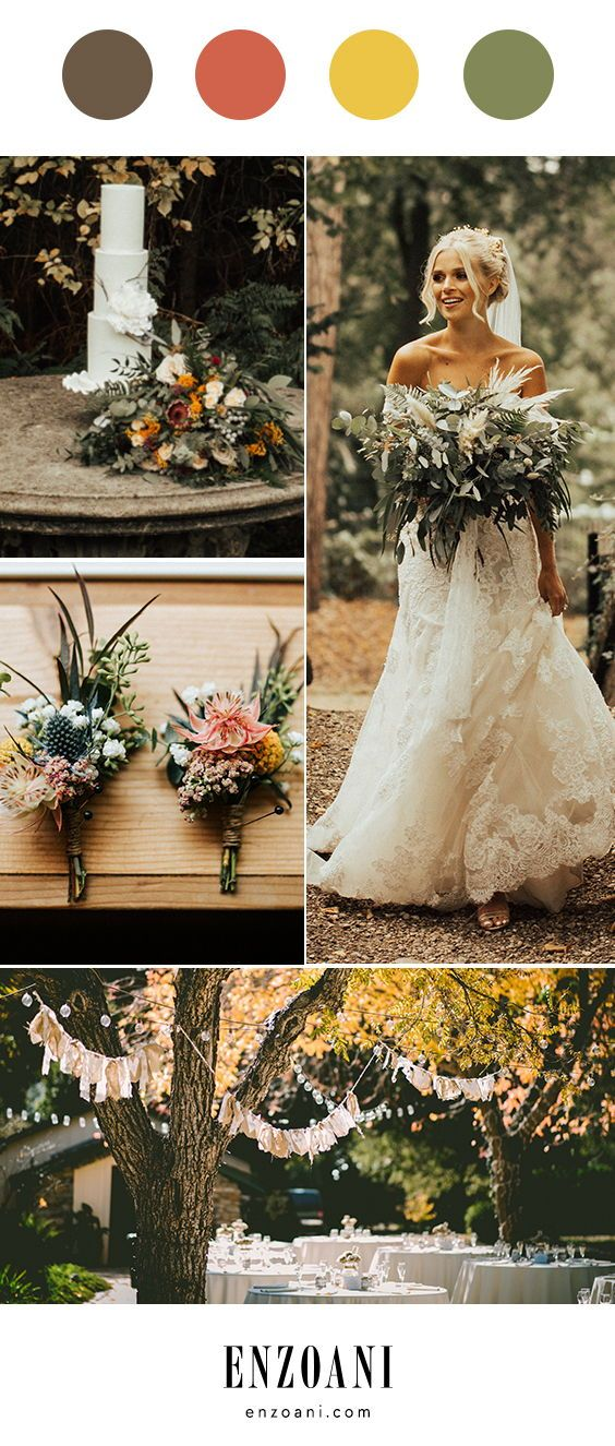 The perfect Fall wedding color palette is part of Fall wedding colors -