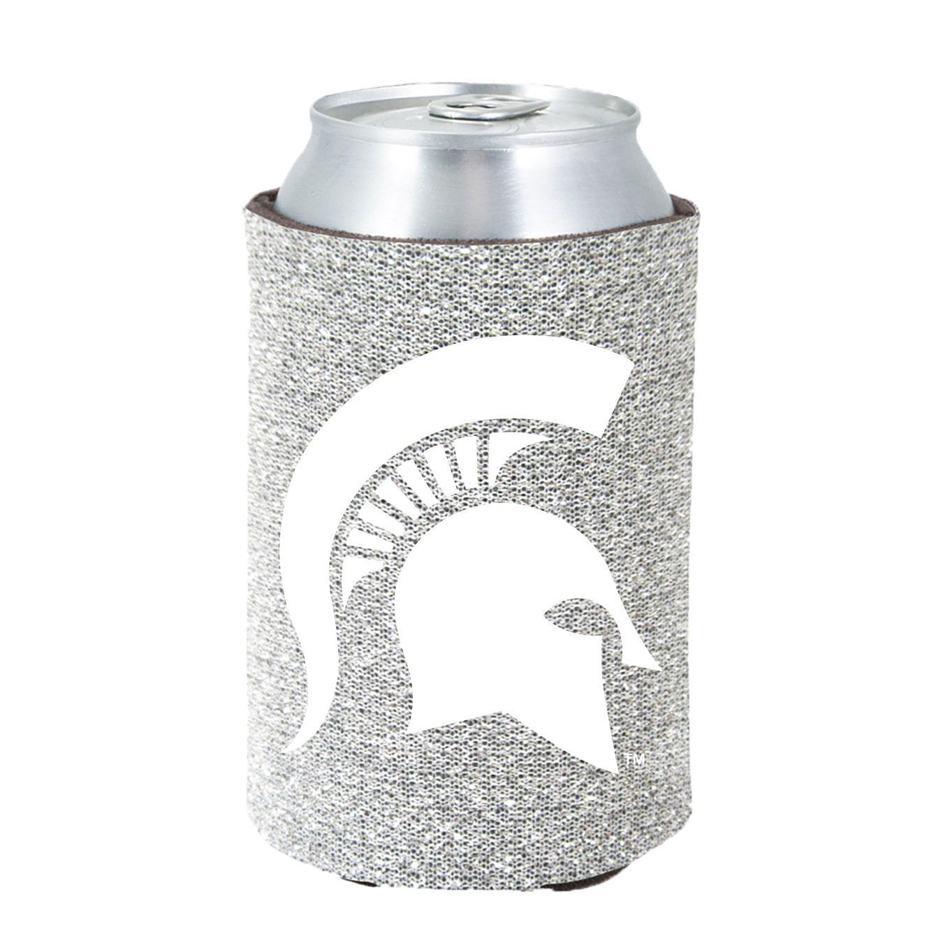 Michigan State Spartans Glitter Can Koozie
