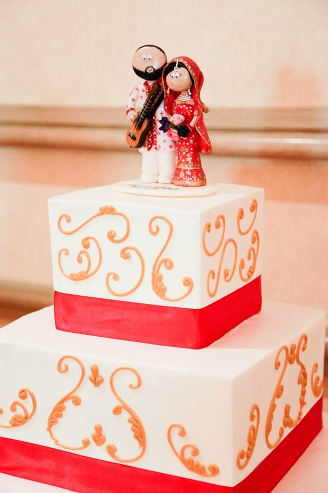 One Of My Personalised Asian Bride Groom Wedding Cake Toppers On