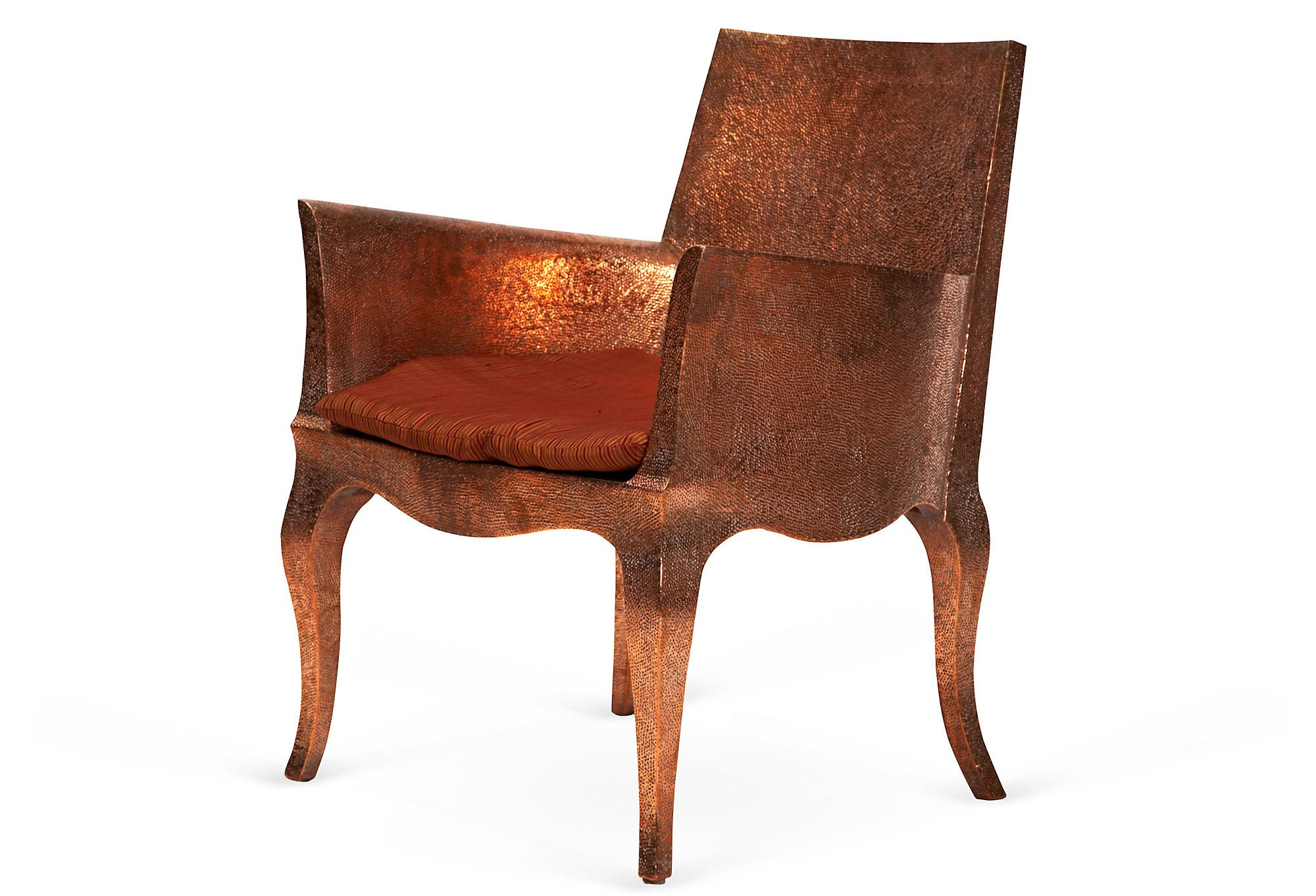 One Kings Lane - Stephanie Odegard - Hammered Copper Club Chairs, Pair
