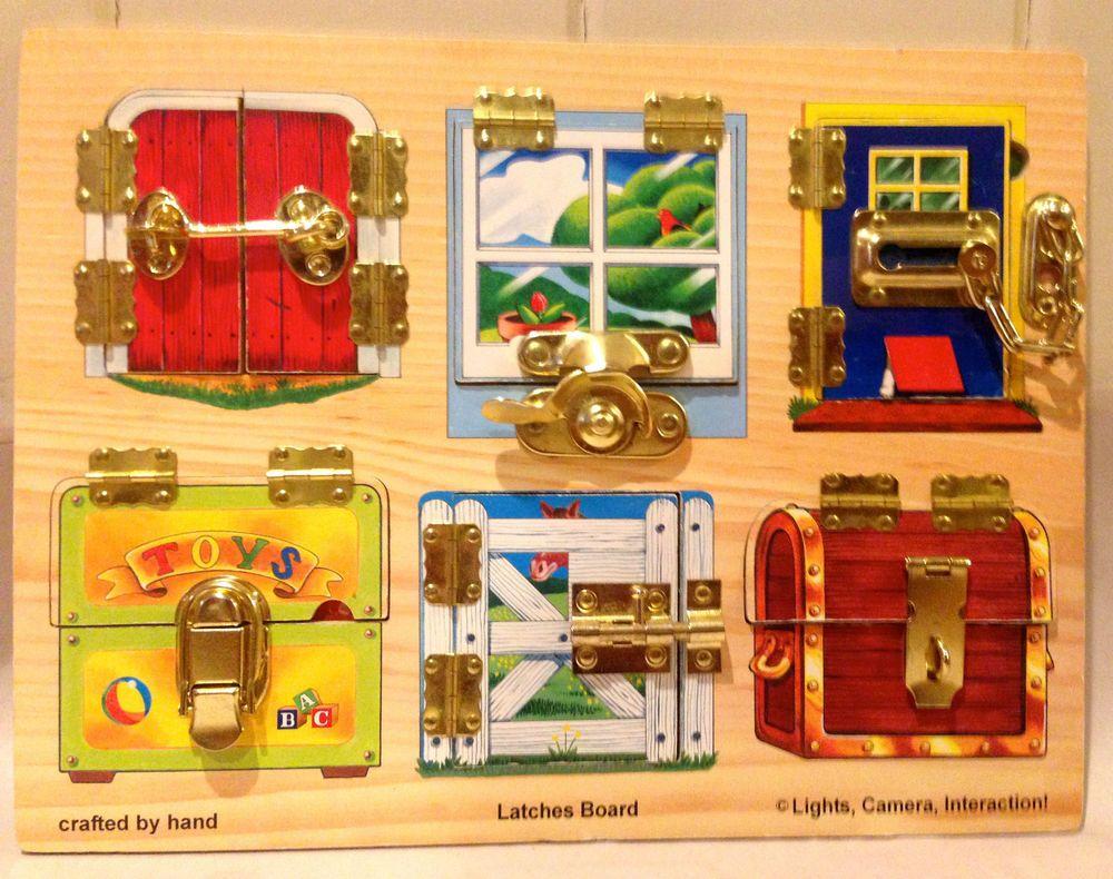 Melissa doug locks latches board puzzle wooden