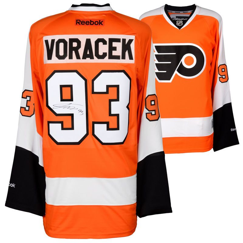 Jakub Voracek Philadelphia Flyers Fanatics Authentic Autographed Orange  Reebok Premier Jersey 70cdabbc6