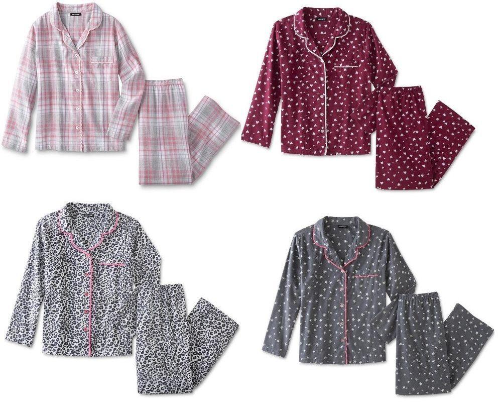 Joe Boxer Womens Flannel Pajama Shirt Pants 2 pc Set size M L NEW https   a2c50941a