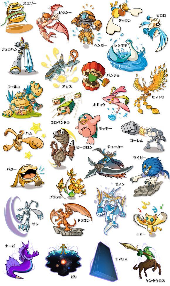 Pictures of Monster Rancher 4 Monster List - #rock-cafe