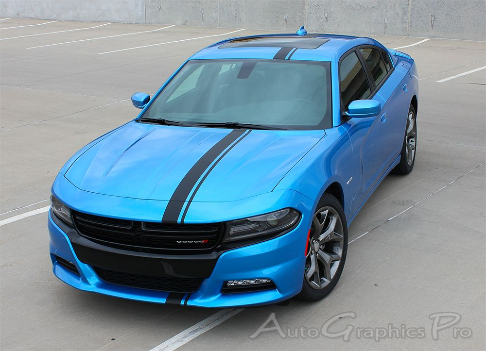 Main Hood Vinyl Graphic Decal Stripe for Dodge Charger 2015 /& Up