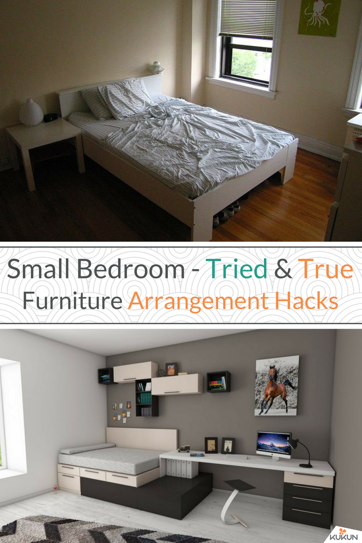 Awe Inspiring 7 Clever Small Bedroom Furniture Arrangement Hacks For The Home Interior And Landscaping Dextoversignezvosmurscom