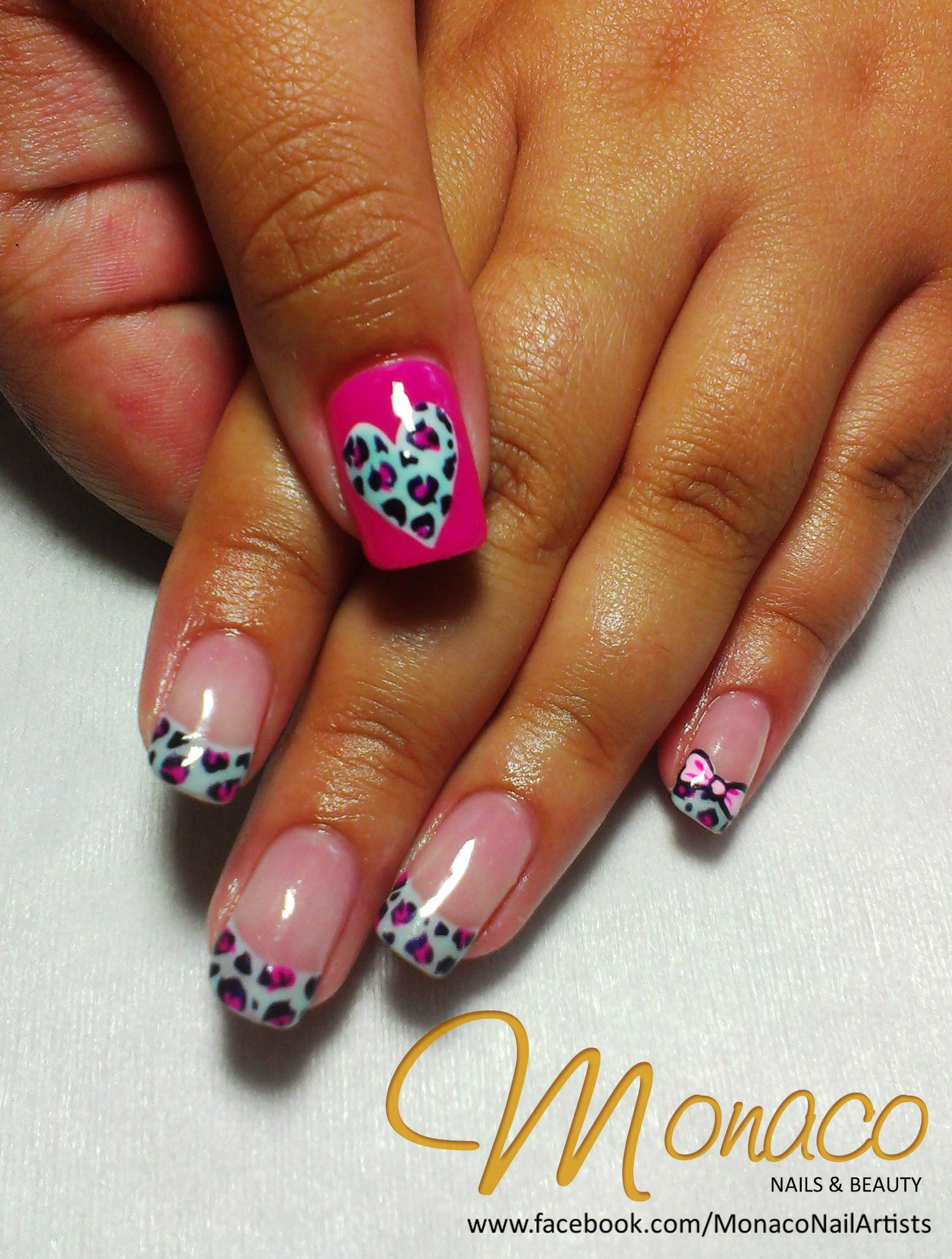 Naomis Leopard Colour Gloss Nails! Love Pink Spots