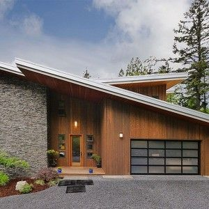 Best Modern House Exterior Angled Roof Google Search Facade 400 x 300