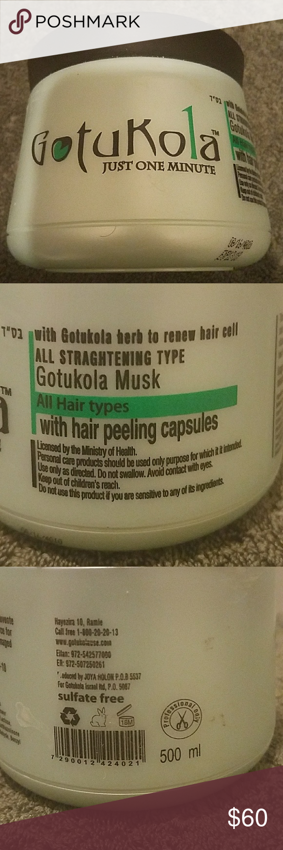 Gotukola Mask With Peeling Capsules 500ml Gotukola Official Peeling Capsules Helps Cleanse The Scalp And Hair With Hair Conditioner I Am Awesome Hair Shampoo