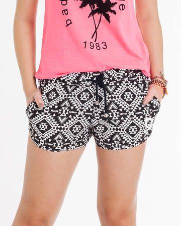 BadCat - Shorts Estampado Etnico