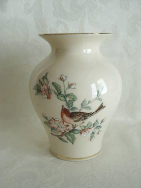 Vintage Lenox Porcelain Vase With Gold Trim Serenade 5 12