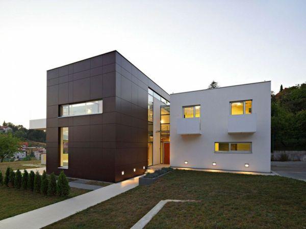 Moderne einfahrten einfamilienhaus  Haus Fassade Einfahrt Rasen Garten weiße Farbe | Haus | Pinterest ...