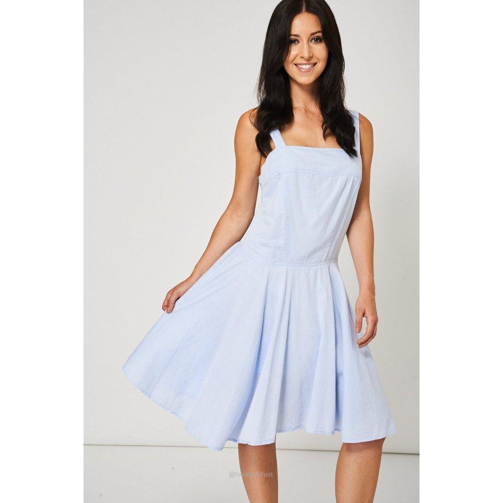 Light blue skater dresswomen apparel dresses casuallook love